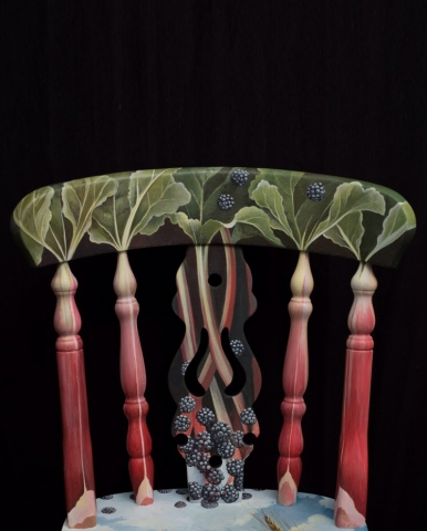 The Handpainted Rhubarb & BlackBerry Chair