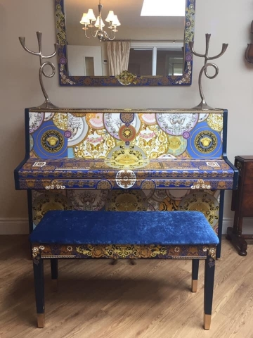 The Versace Decoupage Piano